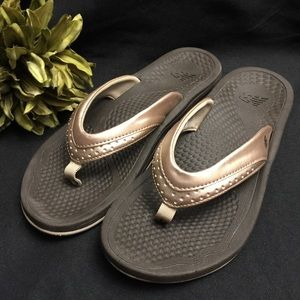 New Balance Flip Flops, Rose w/Brown- Size: 8